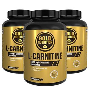 Pack 3 L-Carnitine Cáps. GoldNutrition