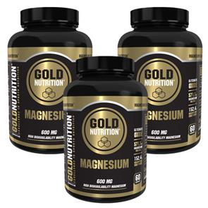 Pack 3 Magnesium 600mg GoldNutrition