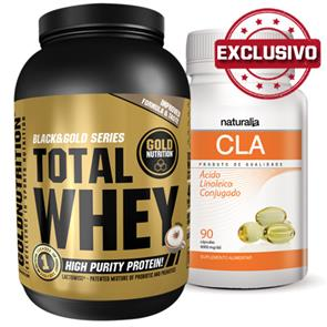 Pack CLA Naturalia + Total Whey GoldNutrition
