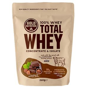 Total Whey Chocolate Avelã GoldNutrition - 260G