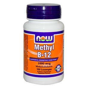 Vitamin B-12 Methyl - 100 losangos - NOW